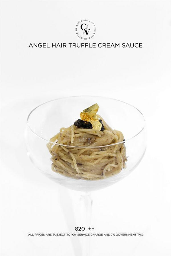 Caviar Cafe : Angel Hair Truffle Cream Sauce