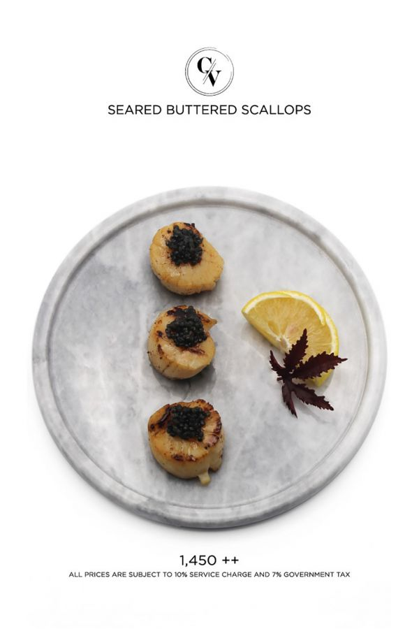 Caviar Cafe : Seared Buttered Scallops
